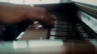 Playing Piano , closeup shot video