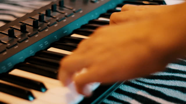 Playing piano video