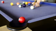 Playing Pool on Pool Table video