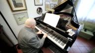 playing the grand piano: board, keys, musician, classical, board, score, music video