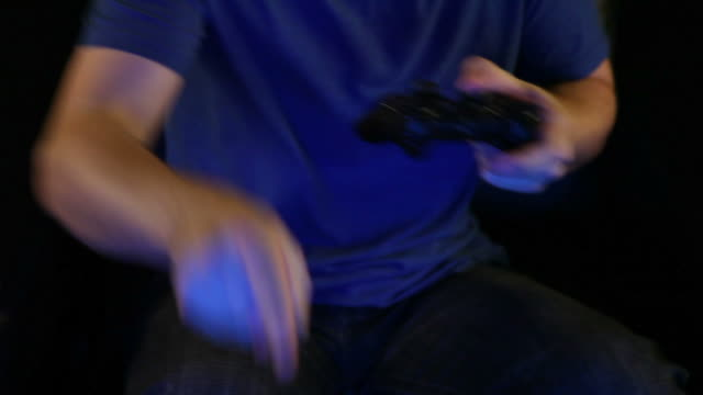 Playing Video Games Close Up video