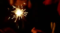 Playing With a Sparkler video
