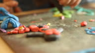 playing with plasticine video