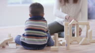 Playing with Toy Blocks in the Nursery video