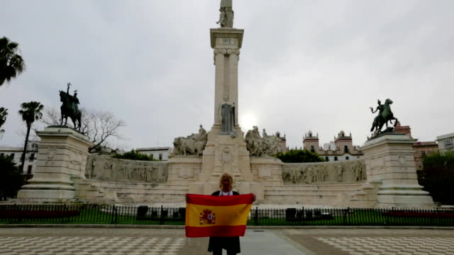 Plaza de Espana of Cadiz video