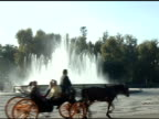 Plaza de Espana with carriage in Seville Spain video
