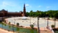 Plaza de Espana with Tilt-Shift Effect, Sevilla video