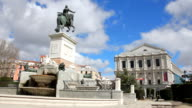 Plaza de Oriente with monument and Royal Theatre, Madrid video