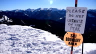 Please Do Not Urinate On the Peak Pagosa Springs Colorado Wolf Creek Alberta Peak Snow Covered Warning Sign Extreme Skiing video
