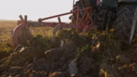 SLO MO Plow turning over the soil video