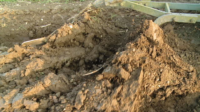 HD SLOW MOTION: Plow Turning The Soil video