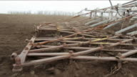 Plows Of Tractor Cultivating Land video