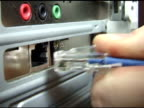 Plugging in Ethernet Cable video