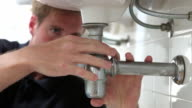 Plumber Working On Sink video