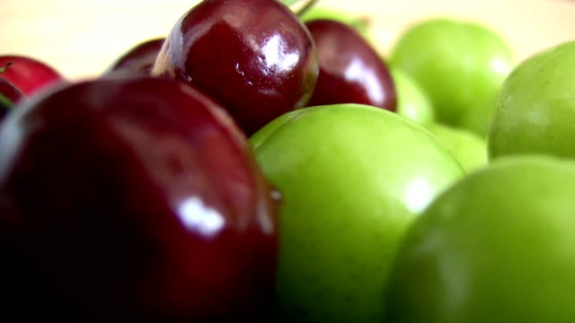 Plums and cherry video