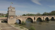 Pnte Milvio Bridge in Rome video