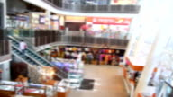 poeple in shopping mall blur background with bokeh video