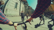 Point of view POV bicycle: duomo of Firenze video
