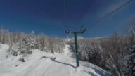 Point Of View Chairlift going up at ski station video