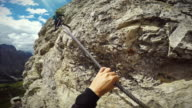 Point of View Video: Via Ferrata on the Alps video
