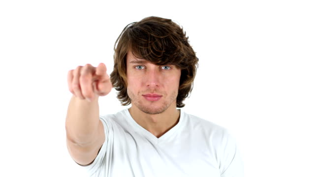 Pointing toward Camera, White Background video