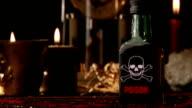 Poison bottle, old clock video