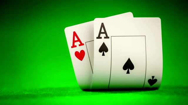 Poker card on the table video