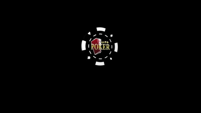3D Poker chip Spin with mask video