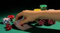 Poker match winner intriguing rival by showing one card at video