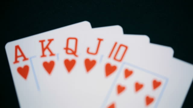 poker, Royal flush of hearts video