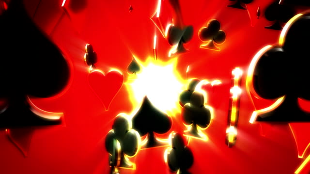 Poker Suits Abstract Background video