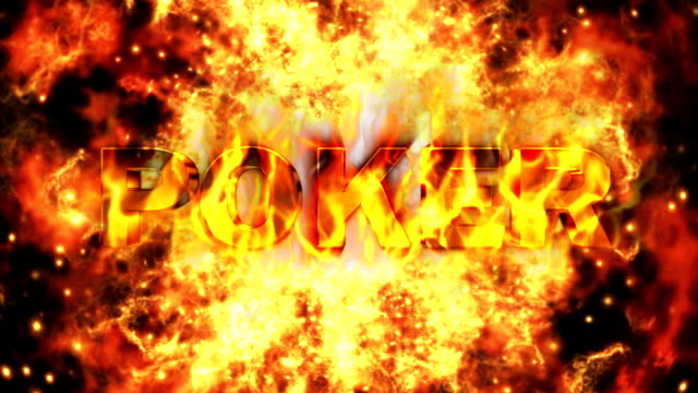 Poker Text and Flames Tunnel Background video