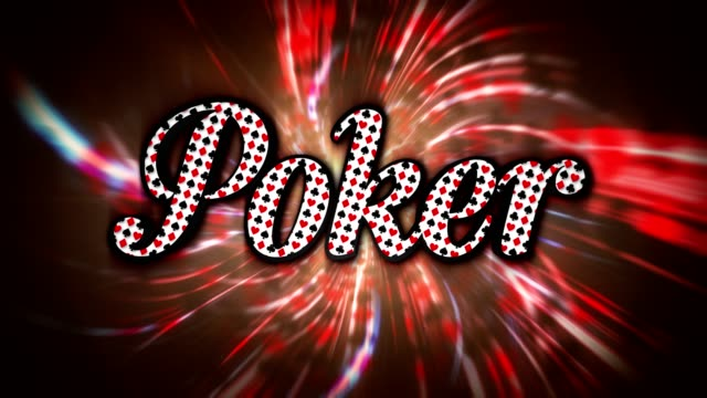 Poker Text Animation, and Tunnel, Rendering video