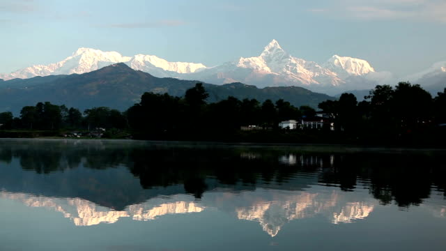 Pokhara Phewa Lake Machapuchare video
