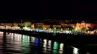 Police along Promenade des Anglais, Nice, France video