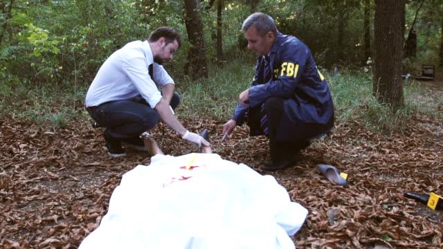 Police and FBI on murder scene video