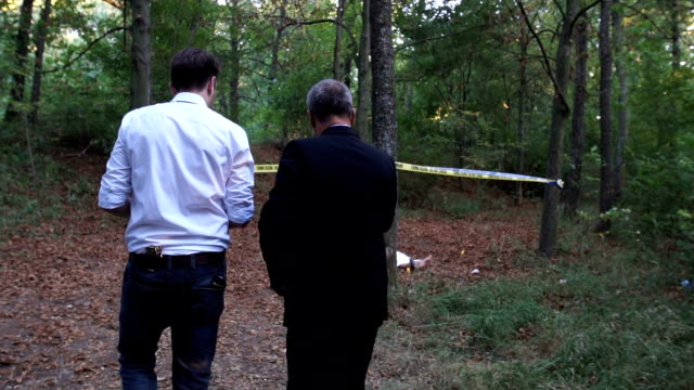 Police arrived at the murder scene video