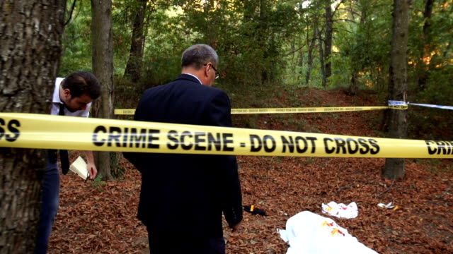 Police arrived to the crime scene video