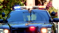 Police Car Emergency Lights Flashing, Top Bar and Grill, Red and Blue Light video