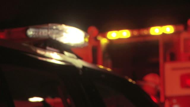 Police Car Flashers - Night 02 video