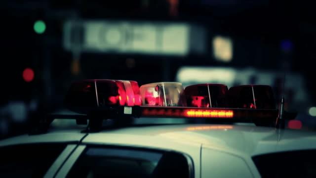 Police Car In New York City USA video