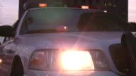 Police Car Lights Flashing at Night. video