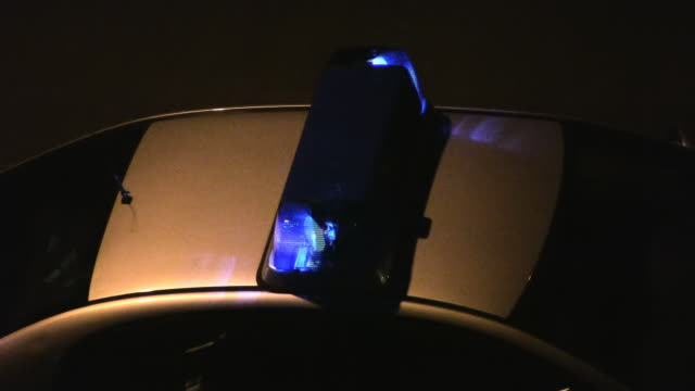 Police car (close-up) - (HD, NTSC, PAL) video