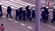 Police cordon. Montage video