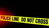 Police Line - Crime Scene video