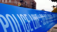 Police Line Do Not Cross Crime Accident Scene 4K video