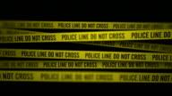 Police Line Do Not Cross In The Dark (Static Camera) video