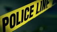 Police Line Do Not Cross Tape Crime Scene video