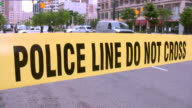 Police line Do Not Cross video