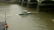 Police Speed Boat on River video